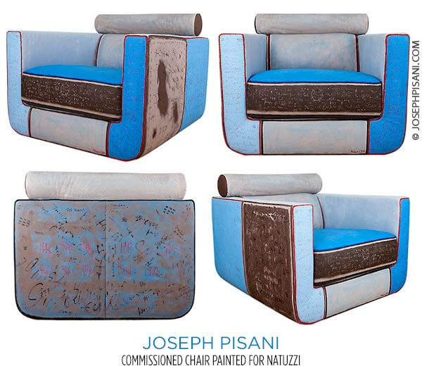 joseph Pisani's painted Natuzzi art chairssion