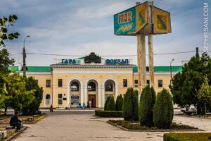 Bus and train station in Tiraspol, Trans-Dniester