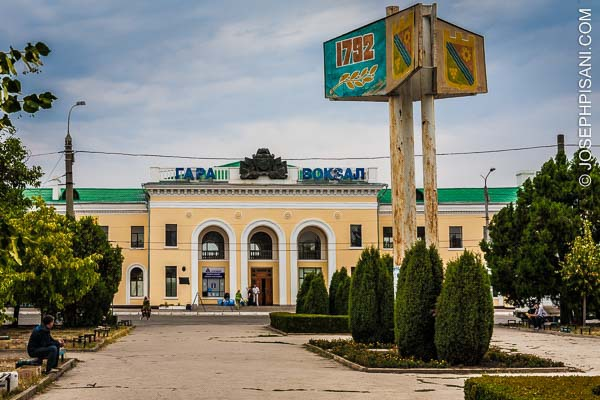 Artist Adventure Travel Series: Bus and train station in Tiraspol, Transdniester