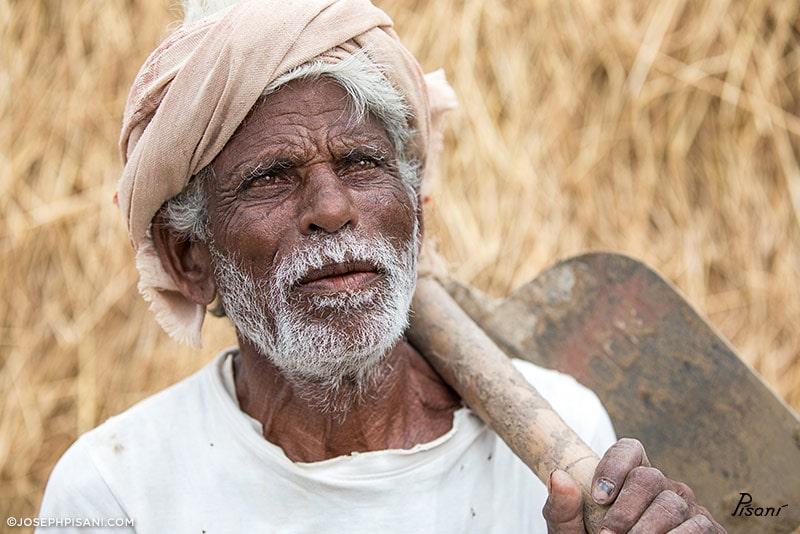 Tata the Farmer, Edition 1 Photograph, SOLD, art braille kanthari charity auction, © Joseph Pisani
