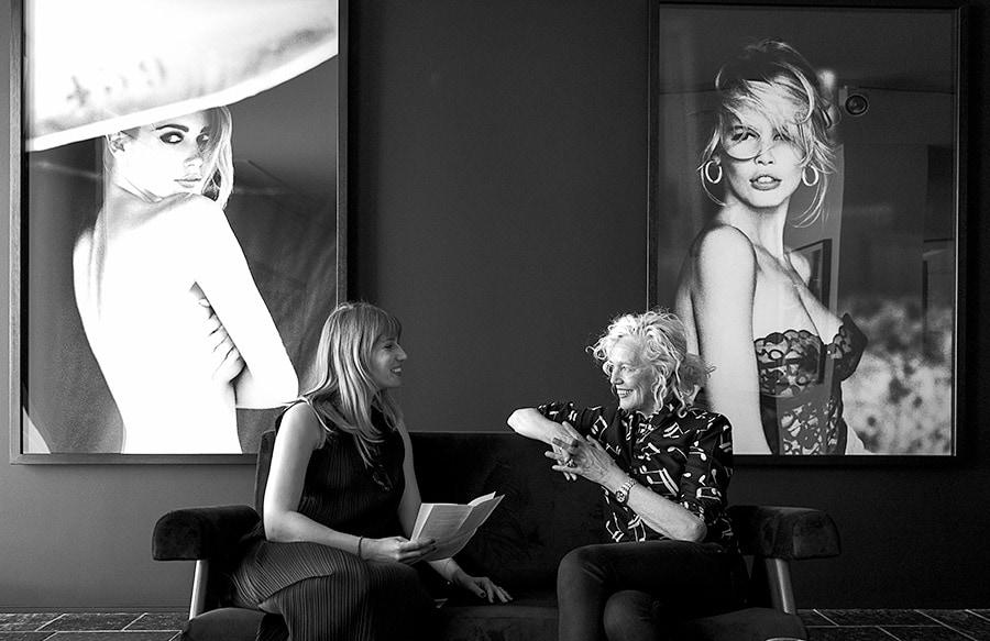 Ellen von Unwerth together with journalist from Annabelle magazine. Photographed by Joseph Pisani.her Joseph Pisani